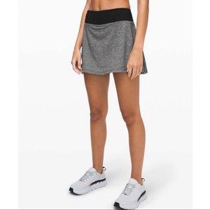 LULULEMON pace rival skirt gray black